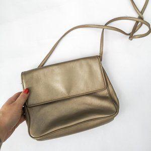 Vintage Gold Leather Preston & York Purse